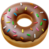 Doughnut Emoji on Apple macOS and iOS iPhones