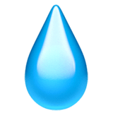 Droplet Emoji on Apple macOS and iOS iPhones