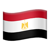 Flag: Egypt Emoji on Apple macOS and iOS iPhones
