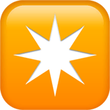 Eight-Pointed Star Emoji on Apple macOS and iOS iPhones