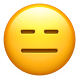Expressionless Face Emoji on Apple macOS and iOS iPhones