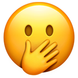 Face With Hand Over Mouth Emoji on Apple macOS and iOS iPhones
