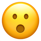 Face With Open Mouth Emoji on Apple macOS and iOS iPhones