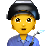 Factory Worker Emoji on Apple macOS and iOS iPhones