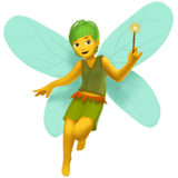 Fairy Emoji on Apple macOS and iOS iPhones