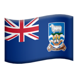 Falkland Islands Emoji on Apple macOS and iOS iPhones