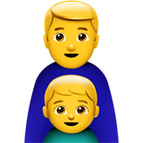 Family: Man, Boy Emoji on Apple macOS and iOS iPhones
