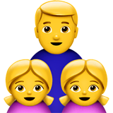Family: Man, Girl, Girl Emoji on Apple macOS and iOS iPhones