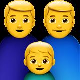 Family: Man, Man, Boy Emoji on Apple macOS and iOS iPhones
