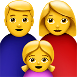 Family: Man, Woman, Girl Emoji on Apple macOS and iOS iPhones