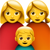 Family: Woman, Woman, Boy Emoji on Apple macOS and iOS iPhones