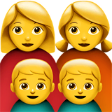 Family: Woman, Woman, Boy, Boy Emoji on Apple macOS and iOS iPhones