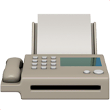 Fax Machine Emoji on Apple macOS and iOS iPhones