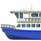 Ferry Emoji on Apple macOS and iOS iPhones