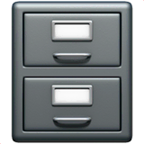 File Cabinet Emoji on Apple macOS and iOS iPhones