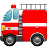 Fire Engine Emoji on Apple macOS and iOS iPhones