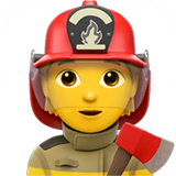 Firefighter Emoji on Apple macOS and iOS iPhones