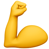 Flexed Biceps Emoji on Apple macOS and iOS iPhones