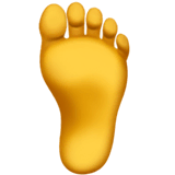 Foot Emoji on Apple macOS and iOS iPhones