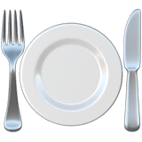 Fork and Knife With Plate Emoji on Apple macOS and iOS iPhones