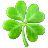 Four Leaf Clover Emoji on Apple macOS and iOS iPhones
