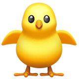 Front-Facing Baby Chick Emoji on Apple macOS and iOS iPhones