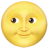 Full Moon Face Emoji on Apple macOS and iOS iPhones