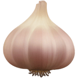 Garlic Emoji on Apple macOS and iOS iPhones