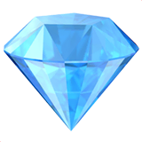 Gem Stone Emoji on Apple macOS and iOS iPhones