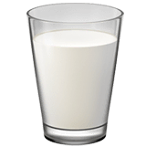 Glass of Milk Emoji on Apple macOS and iOS iPhones