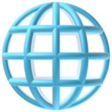 Globe With Meridians Emoji on Apple macOS and iOS iPhones