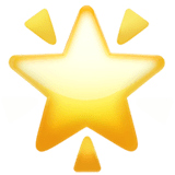 Glowing Star Emoji on Apple macOS and iOS iPhones