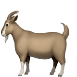 Goat Emoji on Apple macOS and iOS iPhones
