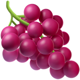 Grapes Emoji on Apple macOS and iOS iPhones