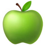 Green Apple Emoji on Apple macOS and iOS iPhones
