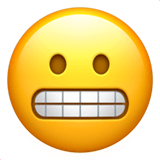 Grimacing Face Emoji on Apple macOS and iOS iPhones