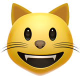 Grinning Cat Emoji on Apple macOS and iOS iPhones