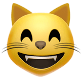 Grinning Cat With Smiling Eyes Emoji on Apple macOS and iOS iPhones
