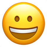 Grinning Face Emoji on Apple macOS and iOS iPhones