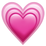 Growing Heart Emoji on Apple macOS and iOS iPhones