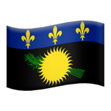 Flag: Guadeloupe Emoji on Apple macOS and iOS iPhones