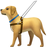 Guide Dog Emoji on Apple macOS and iOS iPhones