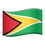 Guyana Emoji on Apple macOS and iOS iPhones