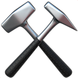 Hammer and Pick Emoji on Apple macOS and iOS iPhones