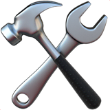 Hammer And Wrench Emoji on Apple macOS and iOS iPhones