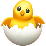 Hatching Chick Emoji on Apple macOS and iOS iPhones