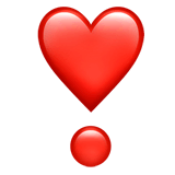 Heart Exclamation Emoji on Apple macOS and iOS iPhones