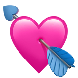 Heart With Arrow Emoji on Apple macOS and iOS iPhones