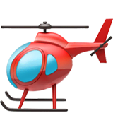 Helicopter Emoji on Apple macOS and iOS iPhones