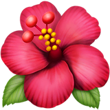 Hibiscus Emoji on Apple macOS and iOS iPhones